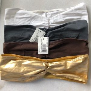 🔸NWT 4 American Apparel Ruched Front Bandeau